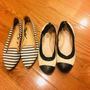 Banana republic & H&M flats bundle